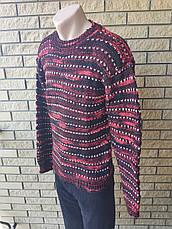 Свитер  унисекс  плотный, крупной вязки  высокого качества, большие размеры NN, Турция, фото 3