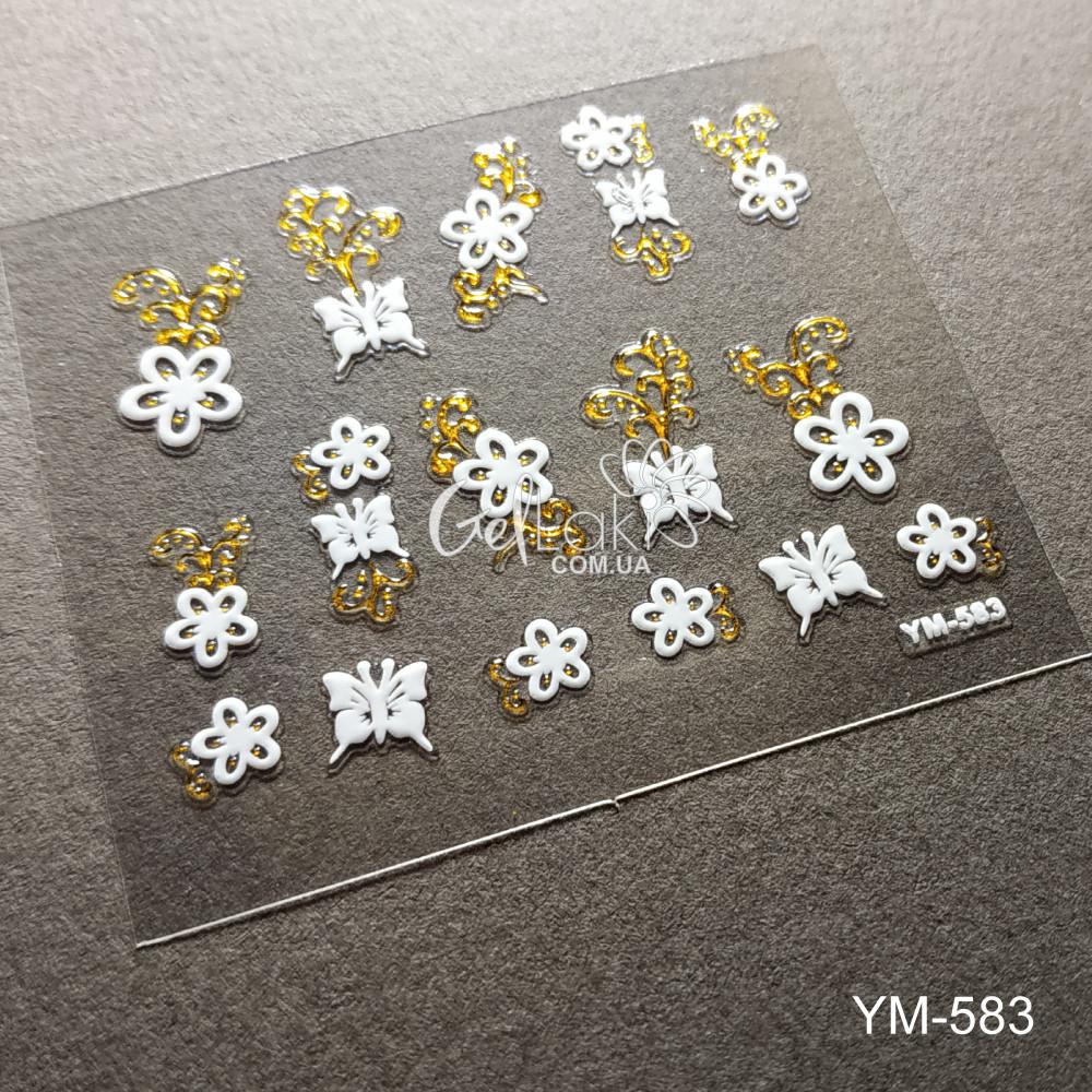 3D наклейки для дизайна ногтей YM-583