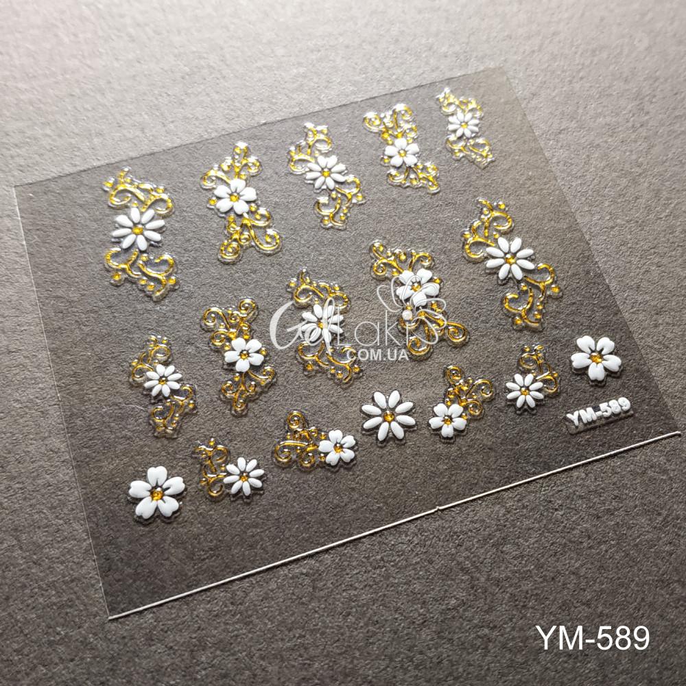 3D наклейки для дизайна ногтей YM-589