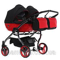 Дитяча універсальна коляска для двійні Junama S-line Duo Red