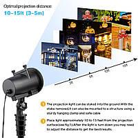 Проектор лазерный Star Shower projection outdoor light halloween YU120лазерная подсветка дома 12 картинок
