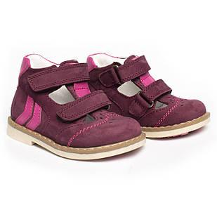 Кожаные ортопедические туфли  для девочки, размеры 18, 20