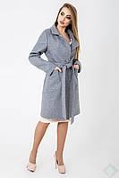 Пальто демисезонное женское Кипр 42-50 размера серое