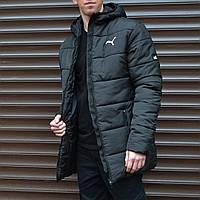 Зимняя мужская куртка парка Puma (Пума) (длина средняя)