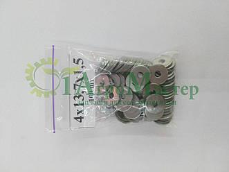Шайба алюминиевая уплотнительная 4х13,7х1,5 Упаковка 100 шт.