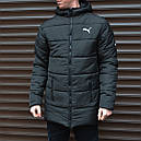 Зимняя мужская куртка парка Puma (Пума) (длина средняя), фото 4