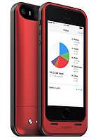 Аккумуляторный чехол с дополнительной памятью Mophie Space Pack для iPhone 5/5S на 1700mAh [32 Гб, Красный]