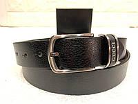 Мужской кожаный ремень Gucci, черный ремень