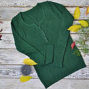 Жіноча зелена кофточка на гудзиках