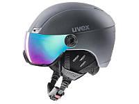 Горнолыжный шлем Uvex Hlmt 400 Visor Style OTG Titanium Mat 2020, фото 1