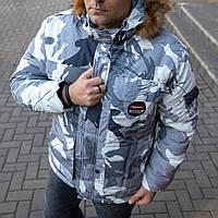 Куртка мужская зимняя. Пуховик серого цвета. Куртка чоловіча. ТОП КАЧЕСТВО!!!