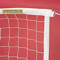 Волейбольная сетка безузловая «ЕВРО НОРМА» с тросом белая