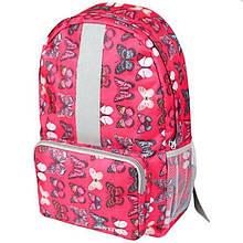 10184 Рюкзак Simple Pink Batterfly для девочки в школу