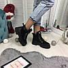 """Зимние женские ботинки на шнуровке """"Siti"""" черные эко-замша+эко кожа //В НАЛИЧИИ ТОЛЬКО 37 40р, фото 4"""