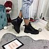 """Зимние женские ботинки на шнуровке """"Siti"""" черные эко-замша+эко кожа //В НАЛИЧИИ ТОЛЬКО 37 40р, фото 5"""