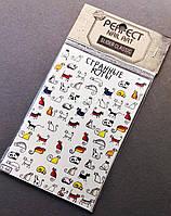 Наклейки слайдеры на водной основе для дизайна ногтей Perfect Nail Art, S66
