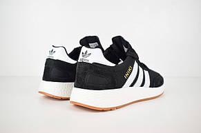 Кроссовки мужские Adidas INIKI черные-белые (Top replic), фото 3