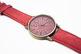 Наручные часы джинсовые 2Life Красный (n-447), фото 2