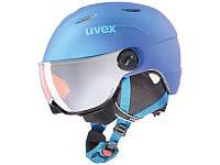 Гірськолижний шолом Uvex Junior Visor Pro Blue Met Mat 2019