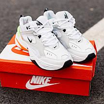 Кроссовки мужские Nike M2K Tekno белые-оранжевые-салатовые (Top replic), фото 3