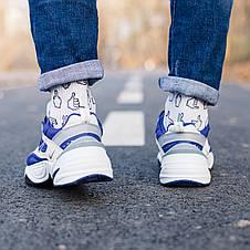 Кроссовки мужские Nike M2K Tekno белые-синие (Top replic), фото 3