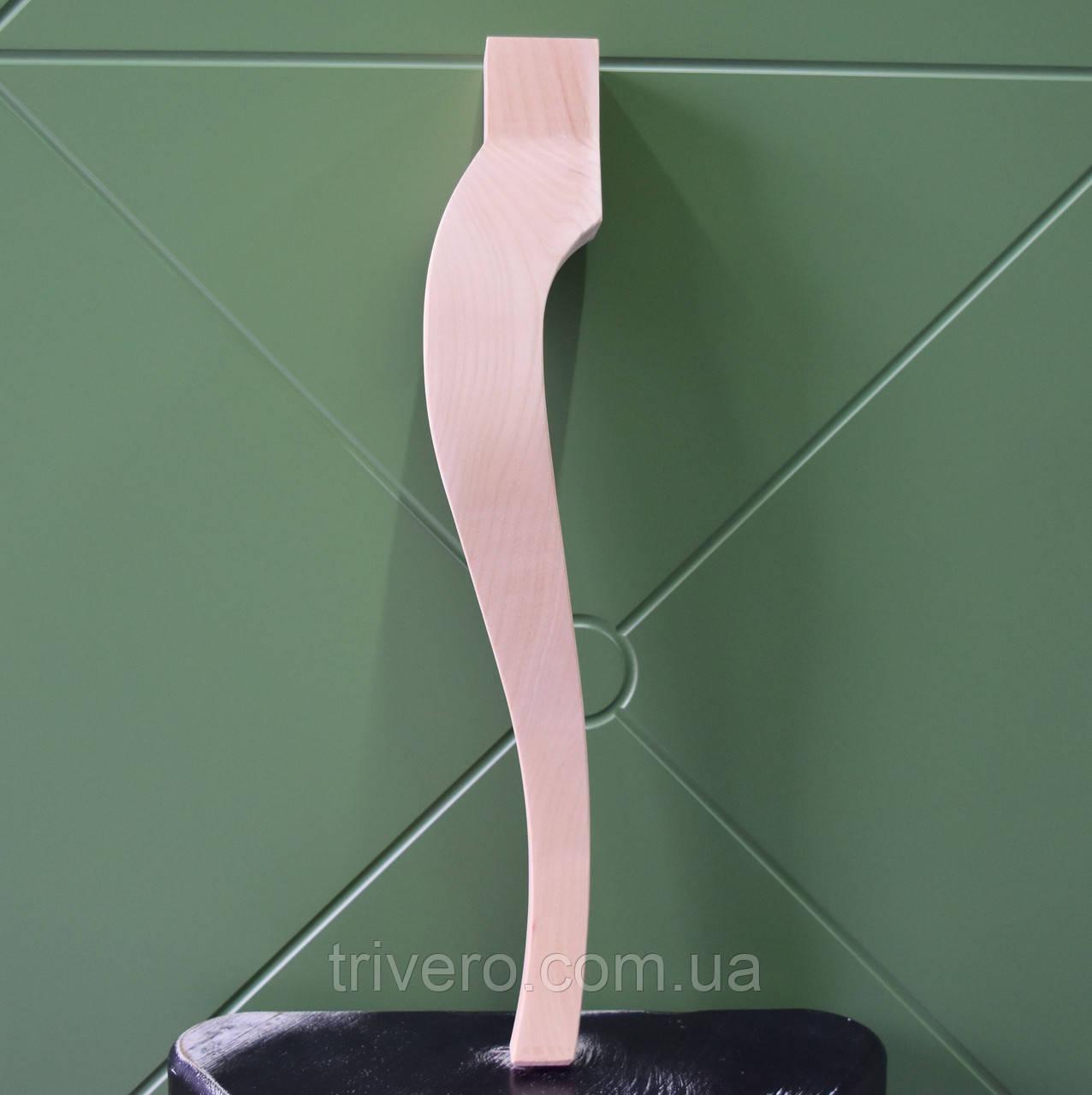 Меблеві ніжки і опори з дерева кабріоль H. 450 D. 80