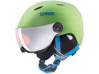 Горнолыжный шлем Uvex Junior Visor Pro Apple Green Mat 2019, фото 1