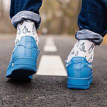 Кроссовки мужские Nike Air Force 1 x Off White синие (Top replic), фото 2