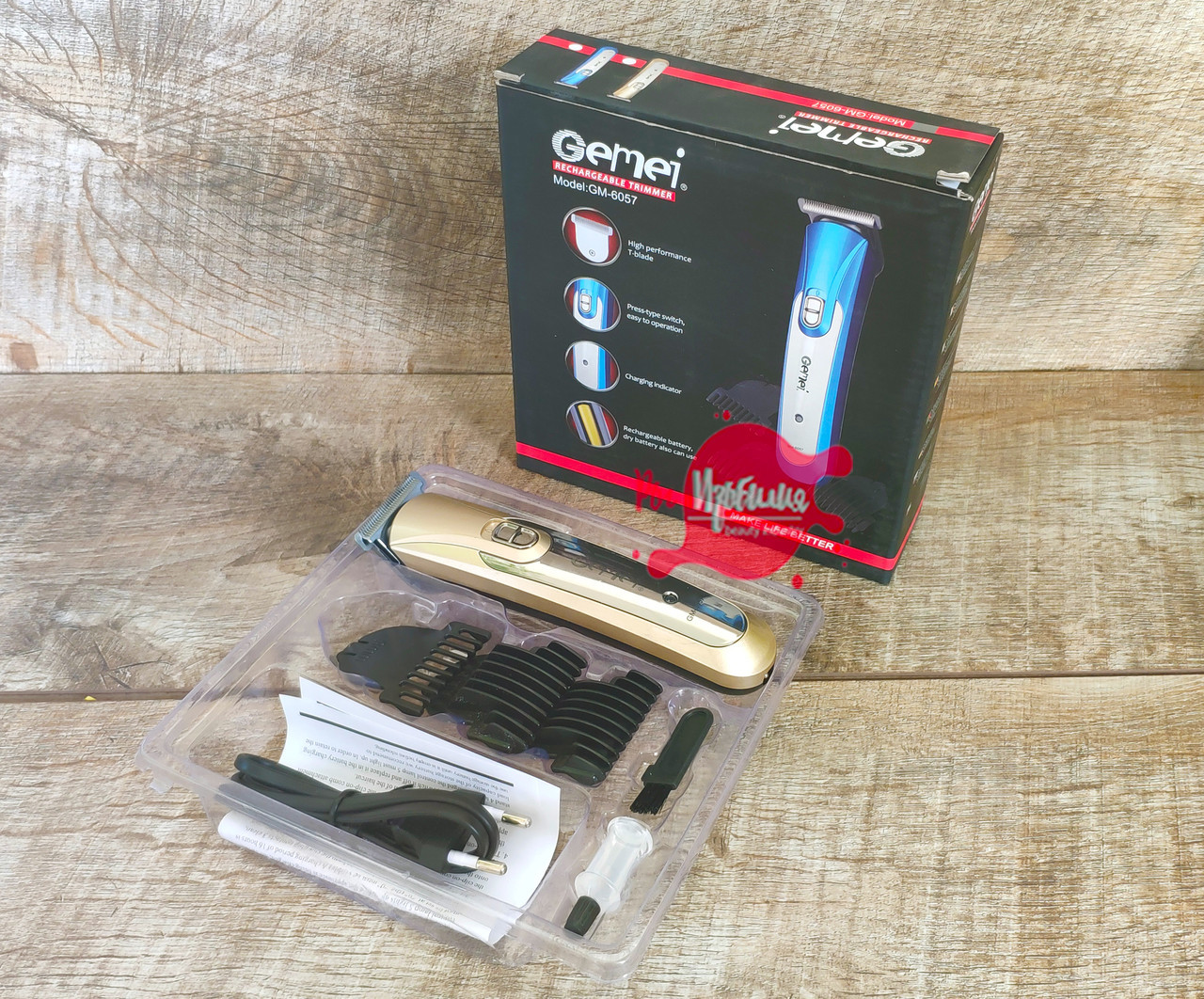Профессиональная машинка для стрижки  волос,волшебный нож из нержавеющей стали Gemei GМ- 6057 CG21 PR1
