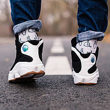 Кроссовки мужские Air Jordan Retro 13 черные-белые (Top replic), фото 3