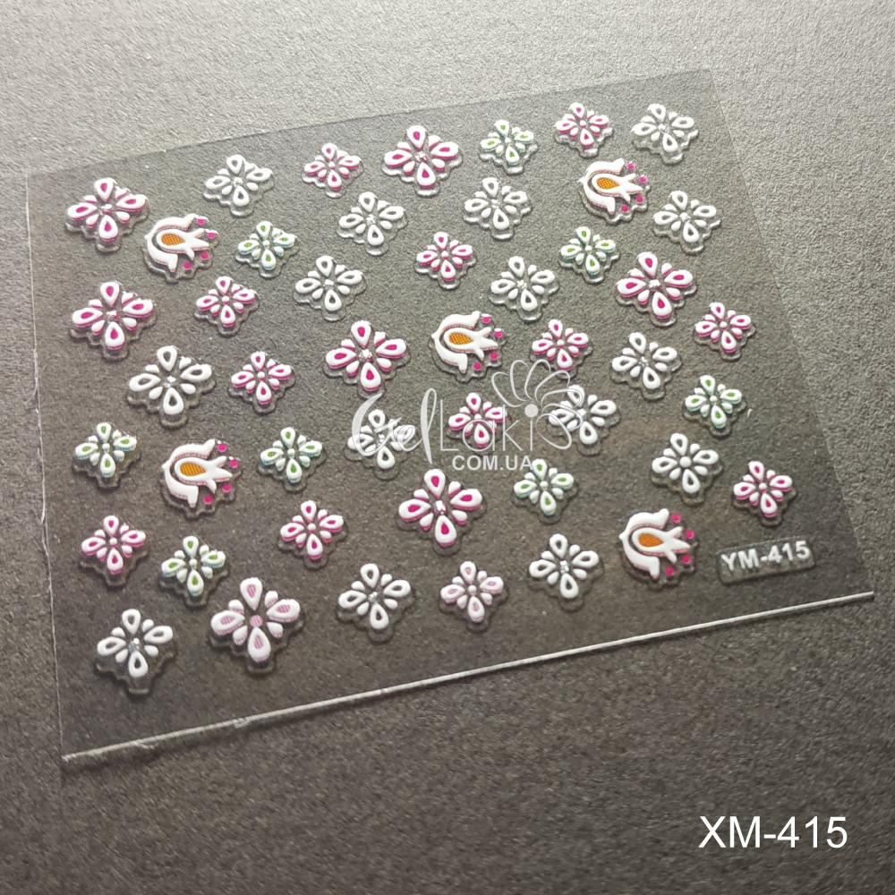 3D наклейки для дизайна ногтей YM-415