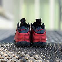 Кроссовки мужские Foamposite Pro красные-черные (Top replic), фото 2