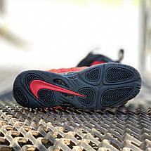 Кроссовки мужские Foamposite Pro красные-черные (Top replic), фото 3