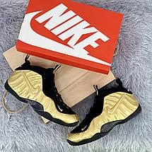 Кроссовки мужские Foamposite Pro желтые-черные (Top replic), фото 2