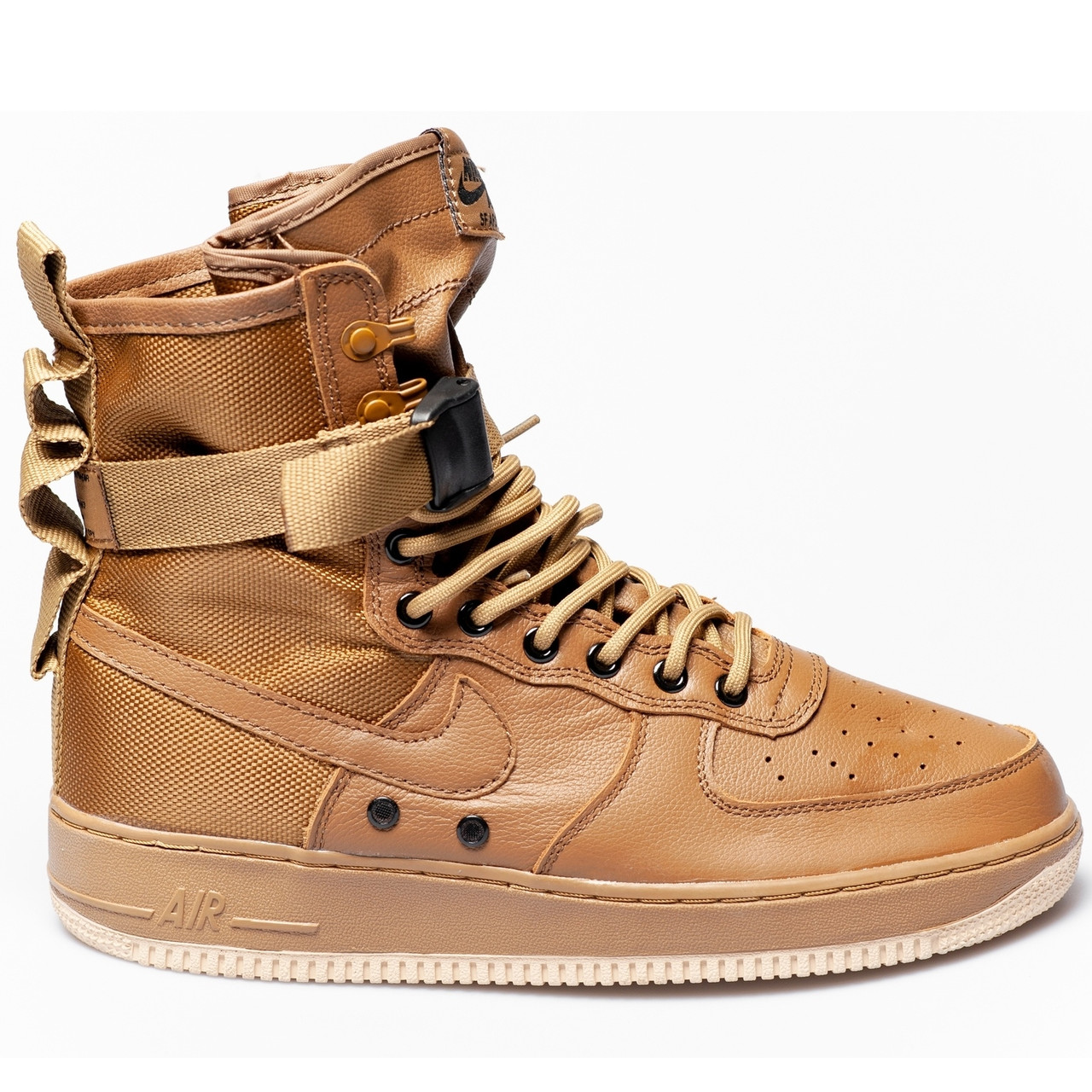 Кроссовки мужские Nike Air Force SF коричневые (Top replic)