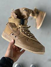 Кроссовки мужские Nike Air Force SF коричневые (Top replic), фото 3
