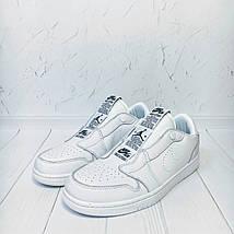 Кроссовки мужские Nike Air Jordan 1 Retro Low Slip белые (Top replic), фото 2