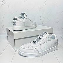 Кроссовки мужские Nike Air Jordan 1 Retro Low Slip белые (Top replic), фото 3