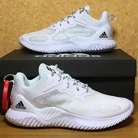 Кроссовки мужские Adidas Alphabounce Beyond Mesh белые (Top replic), фото 2