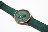 Наручные часы джинсовые 2Life Зеленый (n-445), фото 2