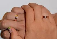 Серебряные обручальные кольца с золотом Грация