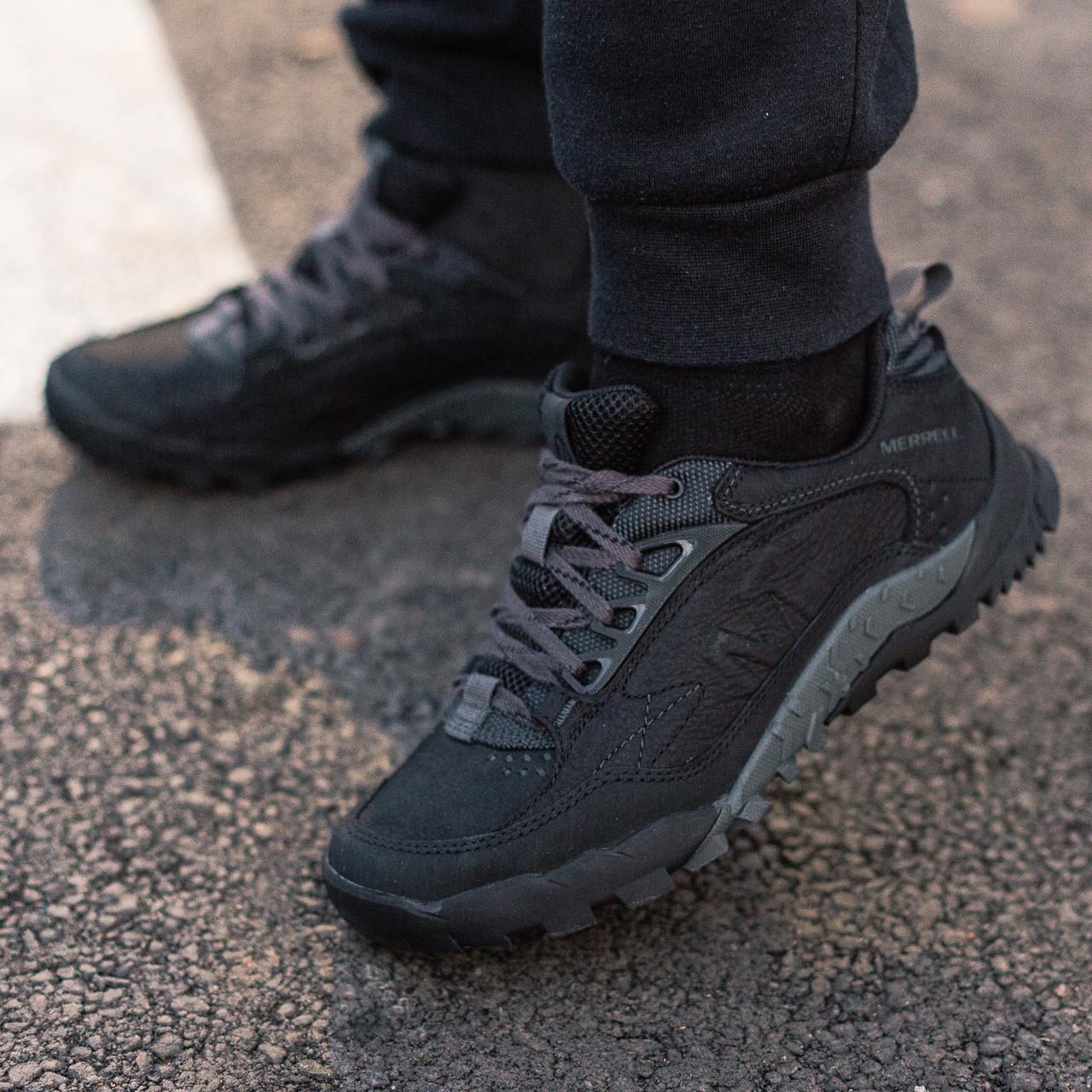 Теплые мужские кроссовки Merrell Annex Trak Low черные (ОРИГИНАЛ)