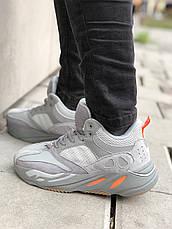 Теплые мужские кроссовки Adidas Yeezy Boost 700 (МЕХ) серые (Top replic), фото 3