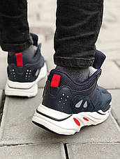 Теплые мужские кроссовки Adidas Yeezy Boost 700 (МЕХ) синие (Top replic), фото 2