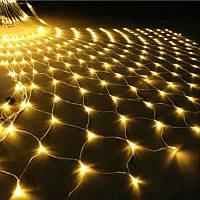 Гирлянда Сетка светодиодная — 240 led, 2х2 цвет тепло-белый