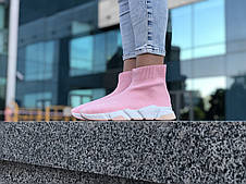 Кроссовки женские Balenciaga Speed розовые (Top replic), фото 3