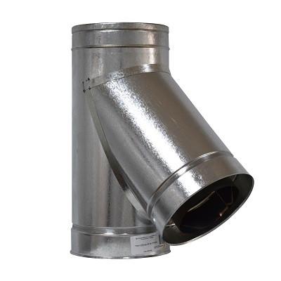 Тройник дымоходный 45° нерж/оцинк ø100/160мм
