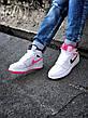 Кроссовки женские Force 1 белые-розовые (Top replic), фото 3