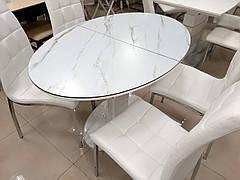 Стол в современном стиле Милан-5 (В 2396) White+W023 TES Mobili , столешница - мрамор
