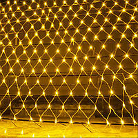 Гирлянда Сетка светодиодная — 240 А-LED, 3,5 х 0,7 цвет желтый